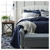 "20""x20"" Chevron Throw Pillow Natural/Gray - Rizzy Home - image 2 of 4"