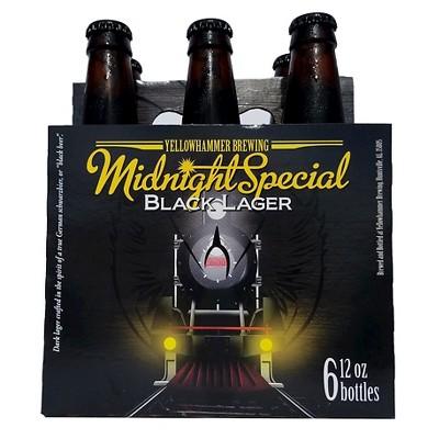 Yellowhammer Midnight Special Black Lager Beer - 6pk/12 fl oz Bottles