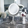 Zadro Next Generation LED Lighted Mirror with Smart Dimmer Satin Nickel - 10X/1X - image 3 of 4