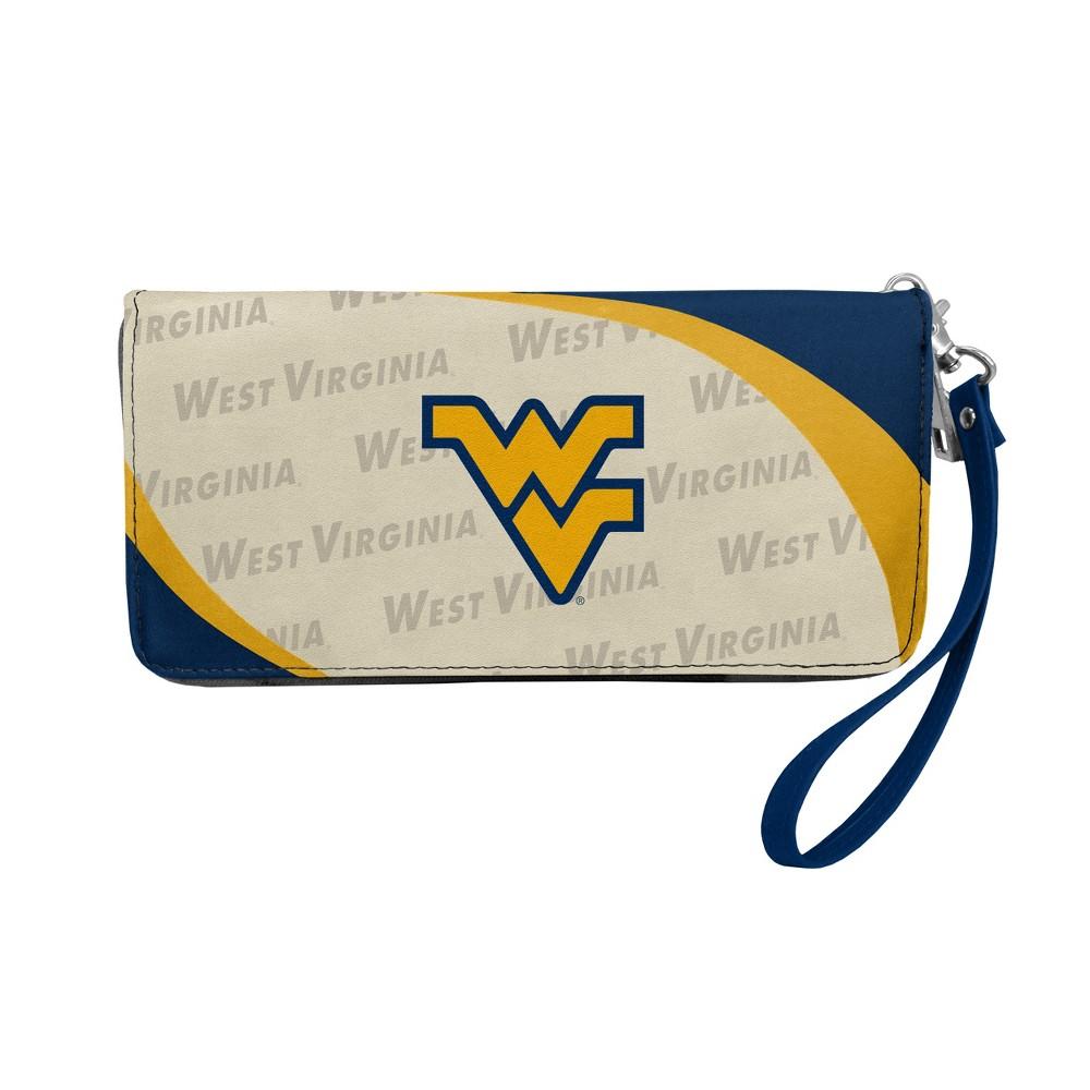 NCAA West Virginia Mountaineers Little Earth Curve Zip Organizer Wallet, Adult Unisex