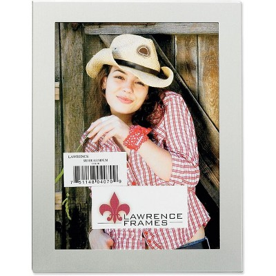 """Lawrence Frames 8"""" x 10"""" Metal Brushed Silver Picture Frame 230180"""