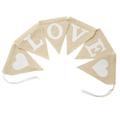Rustic Love Banner Party Decorations and Accessories Brown