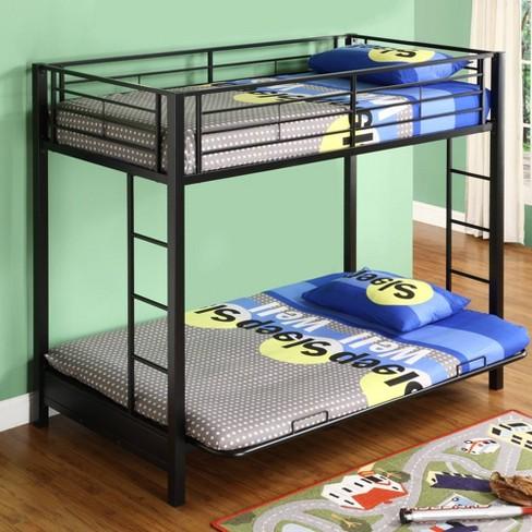 Twin Premium Metal Over Futon Bunk Bed