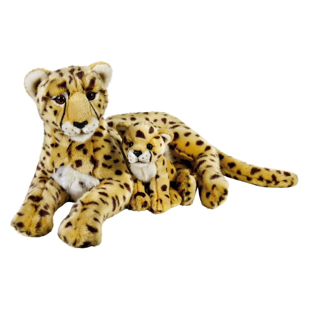 Lelly National Geographic Cheetah with Cub Plush Toy