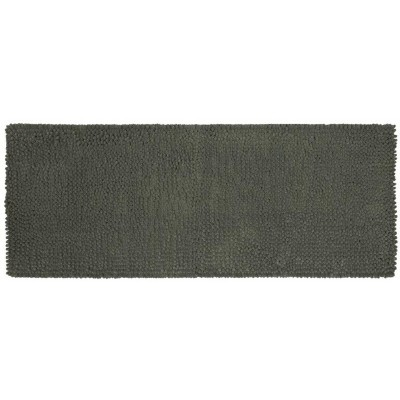 "22""x60"" Chunky Chenille Memory Foam Bath Rugs & Mats Pigeon Gray - Room Essentials™"