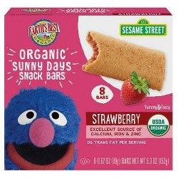 Earth's Best Organic Sunny Day Toddler Snack Bars with Cereal Crust, Made With Real Strawberries - 8ct