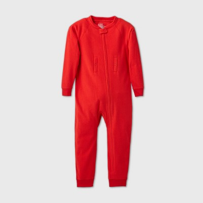 Toddler Adaptive Abdominal Access Cozy Fleece Pajama Jumpsuit - Cat & Jack™ Red
