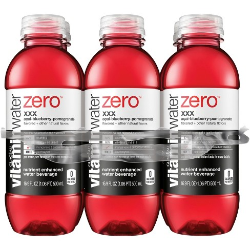 vitaminwater zero xxx açai- blueberry-<br>pomegranate - 6pk/16.9 fl oz Bottles - image 1 of 1