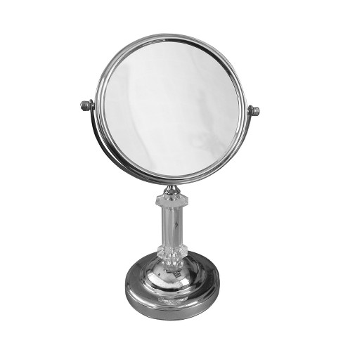 Pamela Freestanding Bath Magnifying Makeup Mirror Light Silver 13