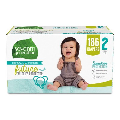 Seventh Generation XXL Pack Diapers - 186ct