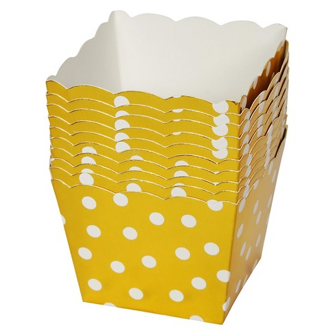 10ct White Dot Gold Treat Cup - Spritz™ - image 1 of 2