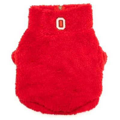 The License House Ohio State Buckeyes Block O Fleece Dog Quarter Zip Pullover