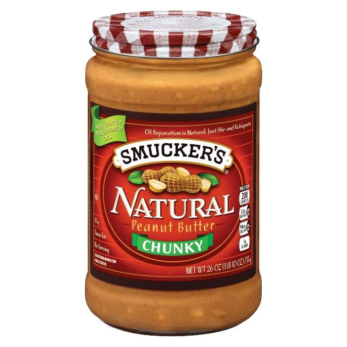Smucker's® Natural Crunchy Stir Peanut Butter - 26oz - image 1 of 1
