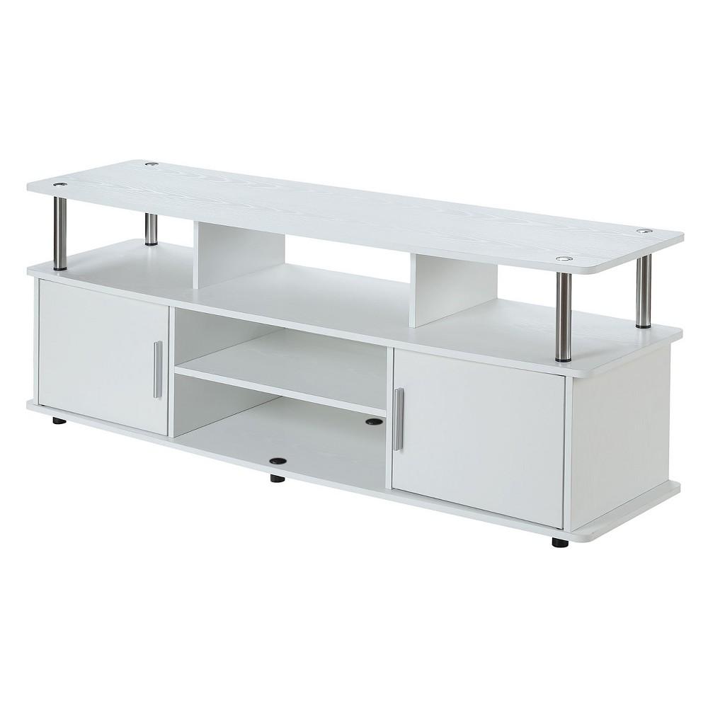 Johar Furniture 60 Designs2Go Monterey TV Stand White