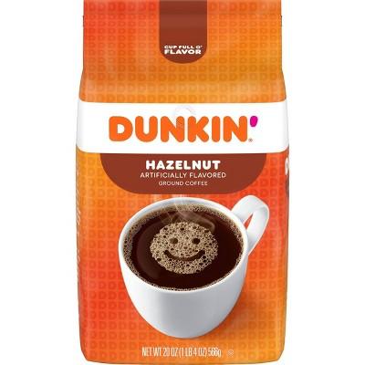 Dunkin Hazelnut Light Roast Coffee - 20oz