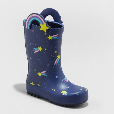 Toddler Girls' Nava Rain Boots - Cat & Jack™ Navy