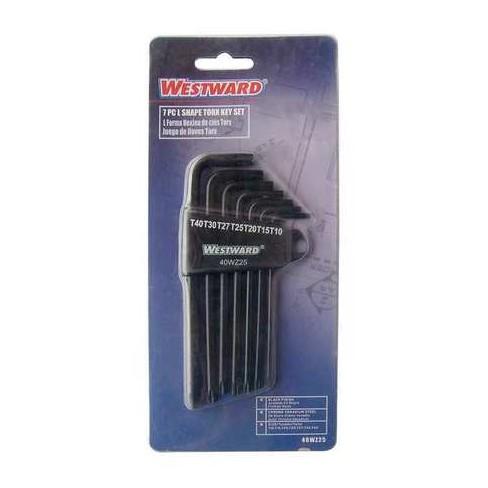 WESTWARD 40WZ25 7 Pc. Torx(R) Torx® L-Shaped Hex Key Set - image 1 of 1