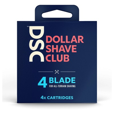 Dollar Shave Club 4-Blade Razor Cartridge Refills - 4ct