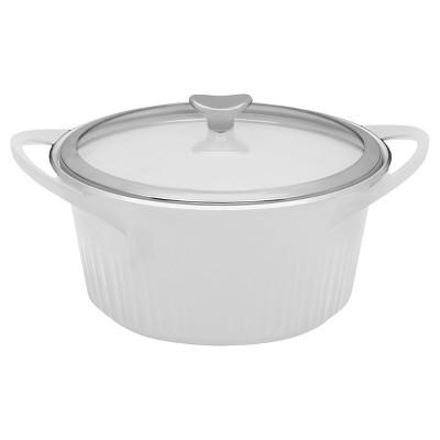CorningWare® 5 1/2 Quart Round Dutch Oven - French White