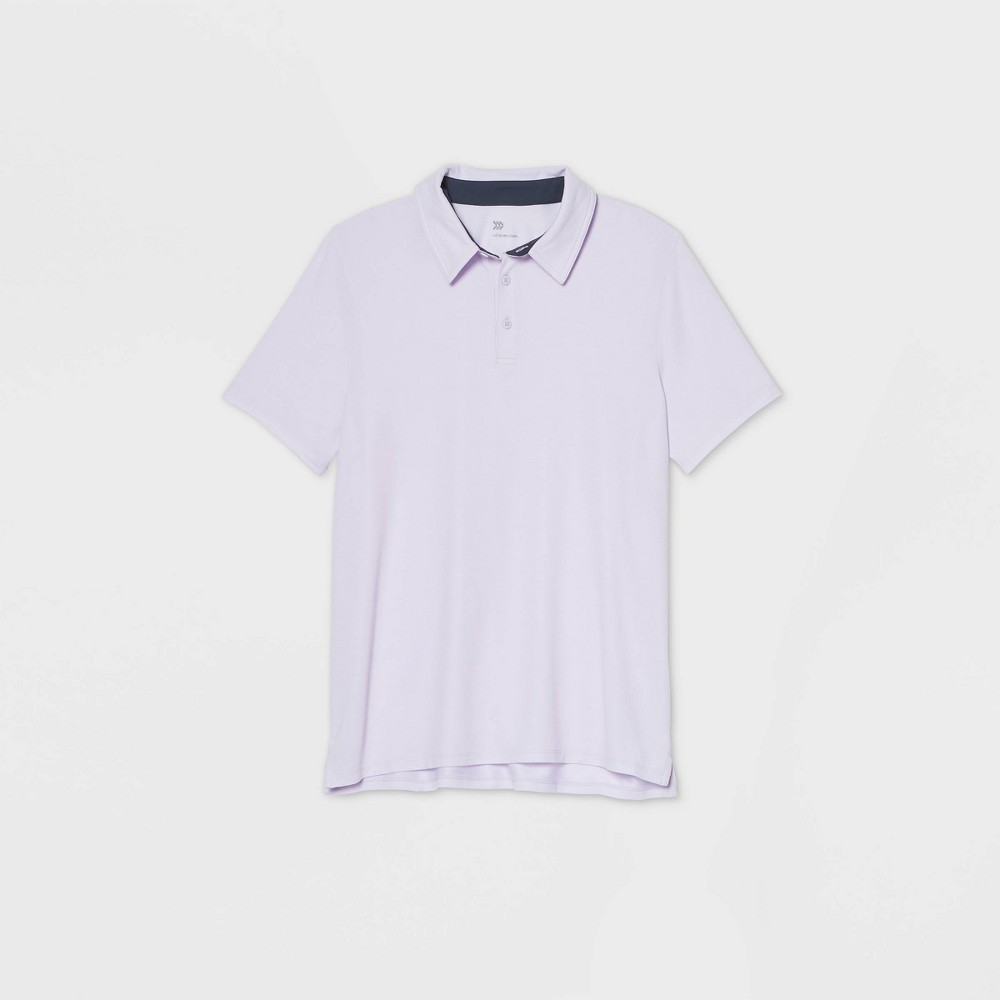 Men's Pique Golf Polo Shirt - All in Motion Lilac XXL, Purple was $22.0 now $12.0 (45.0% off)