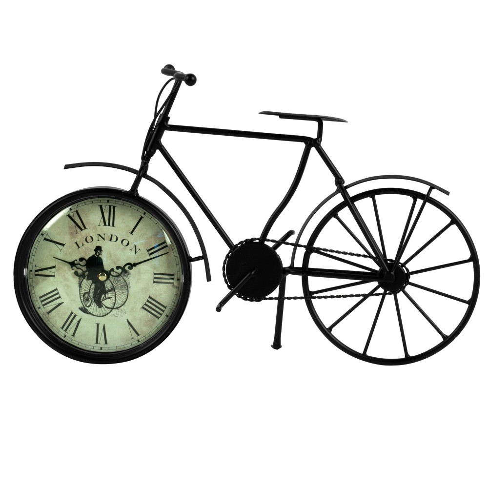"Image of ""14"""" X 9"""" Vintage Bicycle Table Clock"""