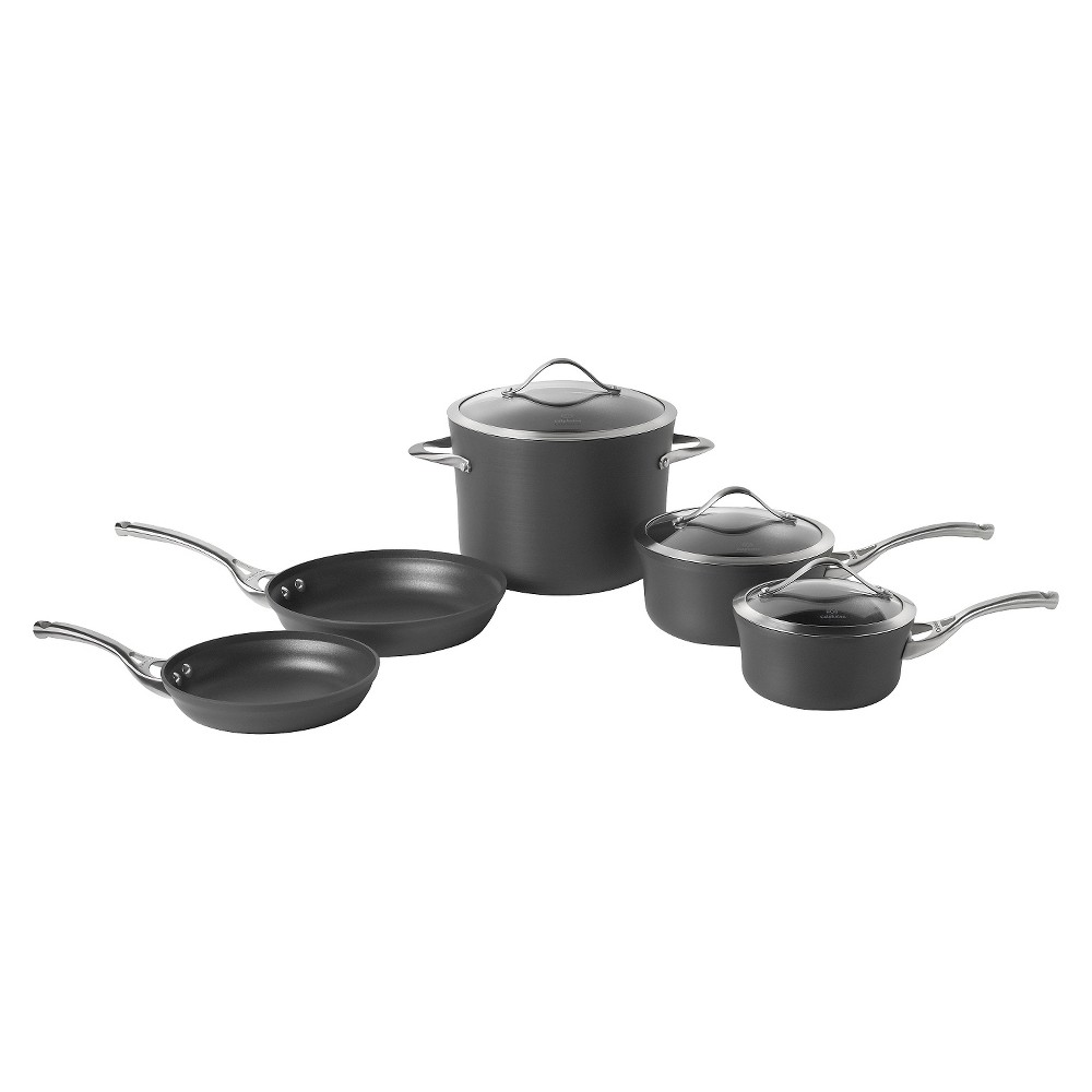 Calphalon 1876784 Contemporary 8 Piece Non-stick Cookware Set, Gray