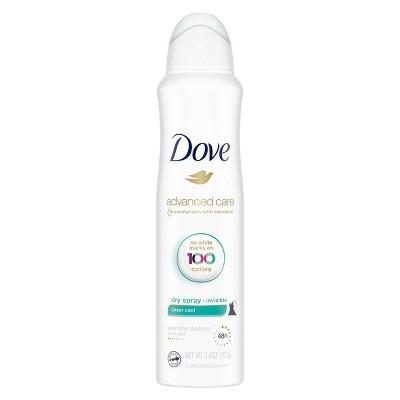 Dove Sheer Cool 48-Hour Invisible Antiperspirant & Deodorant Dry Spray - 3.8oz