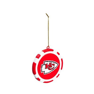 Team Sports America Game Chip Ornament, Kansas City Chiefs