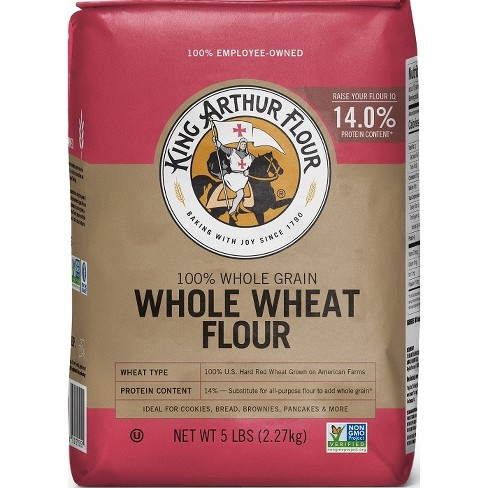 King Arthur Flour Whole Wheat Flour - 5lbs - image 1 of 4
