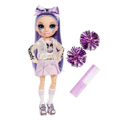 Rainbow HighCheer Violet Willow - PurpleFashion Dollwith Cheerleader Outfit andDoll Accessories