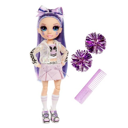 Rainbow HighCheer Violet Willow - PurpleFashion Dollwith Cheerleader Outfit andDoll Accessories - image 1 of 4