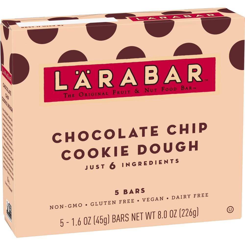 Larabar Fruit And Nut Bar Chocolate Chip Cookie Dough 5 Bars