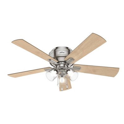 "52"" LED Crestfield Low Profile Ceiling Fan (Includes Light Bulb) - Hunter"