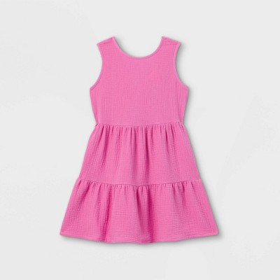 Girls' Gauze Sleeveless Dress - Cat & Jack™