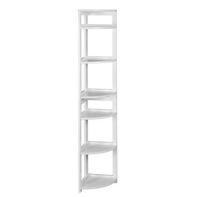 67  Cakewalk High Corner Folding Bookcase White - Regency