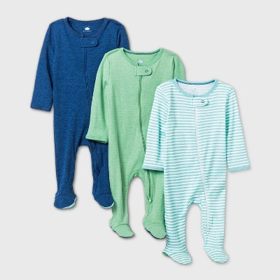 Baby Boys' 3pk Sleep N' Play - Cloud Island™ Navy Newborn