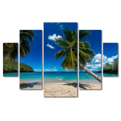 'Martinique' by Mathieu Rivrin Ready to Hang Multi Panel Art Set - image 1 of 3