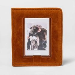 heyday™ Instant Mini Photo Album Brown Faux Suede