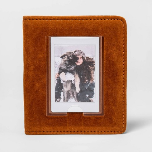 heyday™ Instant Mini Photo Album Brown Faux Suede - image 1 of 2