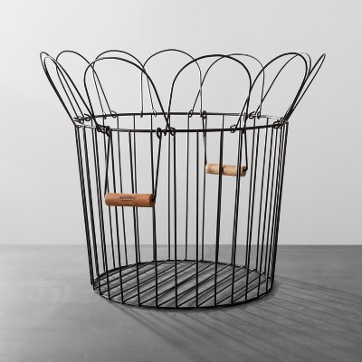 Wire Bloom Basket Large - Black - Hearth & Hand™ with Magnolia