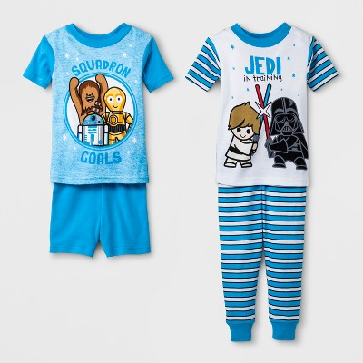 Baby Boys' Star Wars 4pc Pajama Set - White 12 M