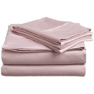 300-Thread Count Cotton Deep Pocket Waterbed Sheet Set, Queen, Lavender - Blue Nile Mills