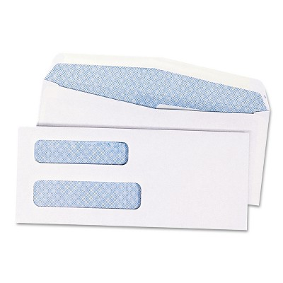 Quality Park Double Window Security Tinted Check Envelope #8 5/8 White 1000/Box 24532B