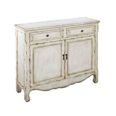 Jaxson Traditional 2 Drawer and 2 Door Cabinet White - Treasure Trove Accents