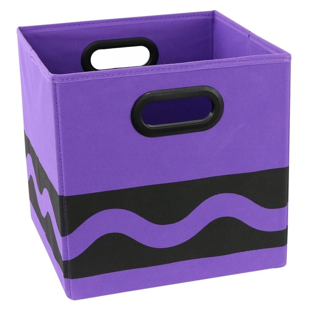 Purple Crayola Black Serpentine Toy Storage Bin (10.5