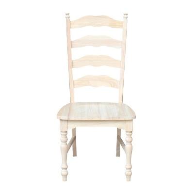 Etonnant Set Of 2 Maine Ladderback Chair Unfinished   International Concepts : Target