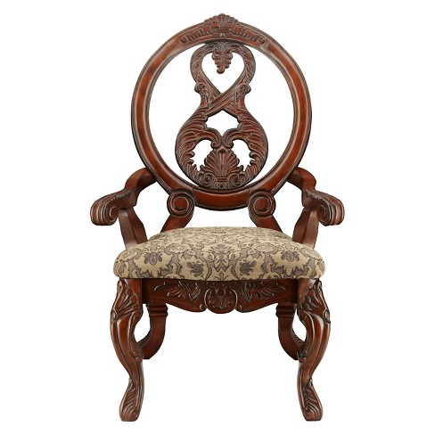 Sun & Pine Elegant Carved Padded Arm Chair Wood/Antique Cherry (Set of 2) :  Target - Sun & Pine Elegant Carved Padded Arm Chair Wood/Antique Cherry (Set