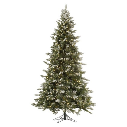 75ft pre lit led artificial christmas tree full frosted balsam fir clear lights