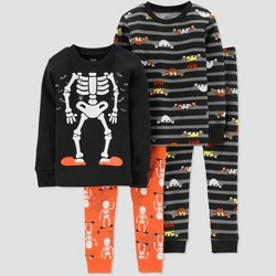 Toddler Boys' 4pc Halloween Pajama Set - Just One You® made by carter's Orange