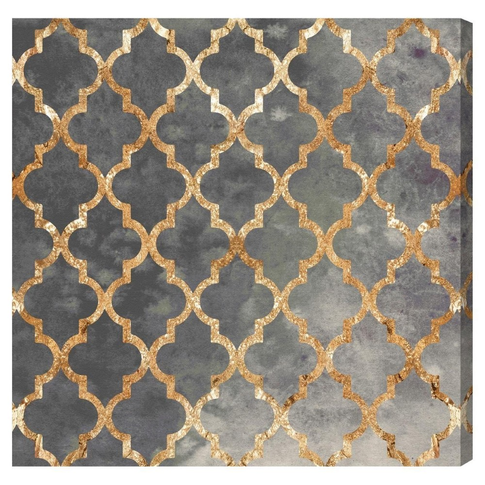 "Image of ""Oliver Gal Unframed Wall """"Arabesque Gold"""" Canvas Art (36x36), Gold"""